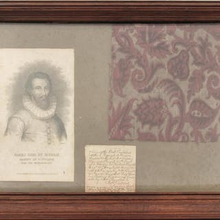 A RELIC OF JAMES STEWART, 1st Earl of Moray (Murray), (c.1531-1570