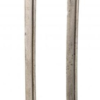 A BRACE OF 1751 PATTERN HUNTINGDON MILITIA HANGERS, the first with