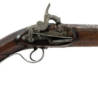 A SPANISH PERCUSSION BLUNDERBUSS, 10.5inch barrel with large flared