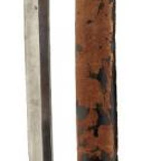 A JAPANESE KATANA, 64cm blade with one mekugi-ana, cross filed and