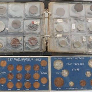 A folder of GB coinage