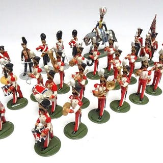New Toy Soldier Royal Marine Band c.1931 with Colours and...