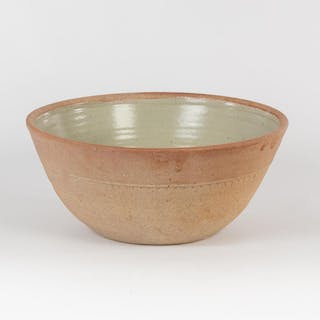 Richard Batterham (British, born 1936), a deep stoneware bowl, green
