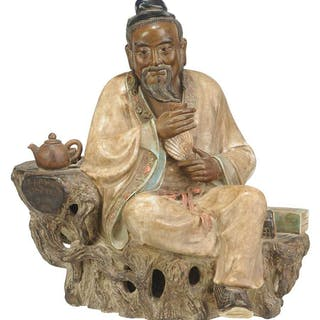 Shiwan Pottery Figure of Lu Yu