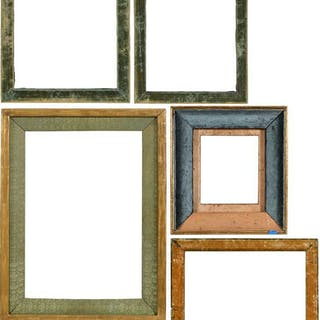 Four Renaissance Type Panel Frames, Three Liners