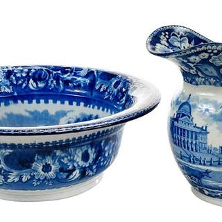 Historical Staffordshire Pitcher and Basin