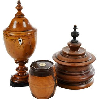 Three Carved Wood Table Items