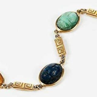 14kt. Gold Scarab Bracelet