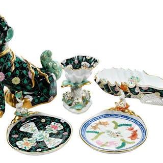 Five Herend Porcelain Black Dynasty Objects – Current sales