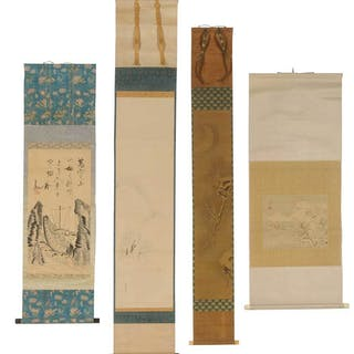 Four Japanese Scrolls, Seascape, Snowscape