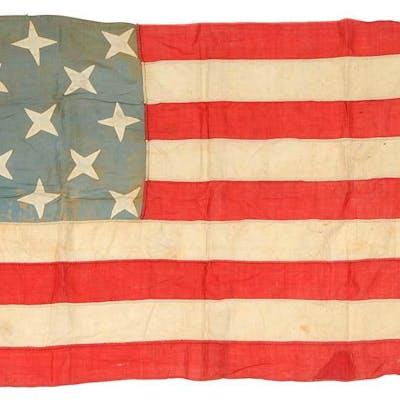 13 Star, Nine Stripe Folk Art American Flag