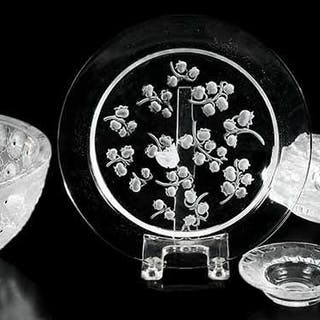 Group of Four Lalique Table Articles