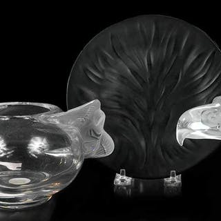 Three Lalique Glass Table Ornaments
