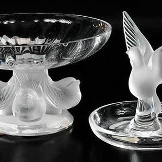 Six Lalique Glass Figural Articles