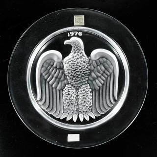 Boxed Set 12 Annual Lalique Plates