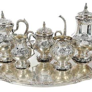 SixÿPiece Richelieu Sterling Tea Service, Tray