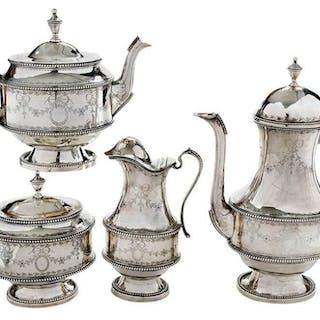 Four Piece Portugal Silver Tea Service