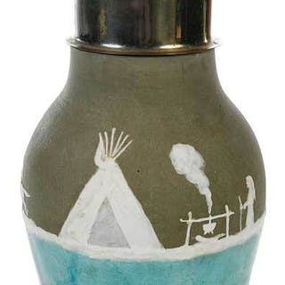 Pisgah Forest Pottery Cameo Lamp