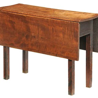 New England Chippendale Maple Drop Leaf Table