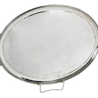 Large English Silver Tray