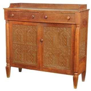 Southern Federal Walnut Pie Safe