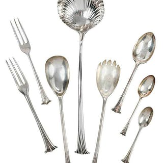 46 Pieces Onslow English Silver Flatware