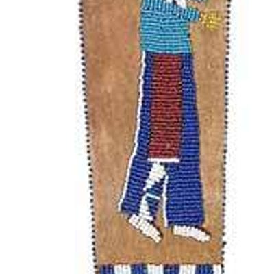 Beaded Pictorial Sheath and Knife