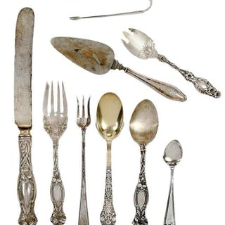 40 Pieces Assorted Sterling Flatware