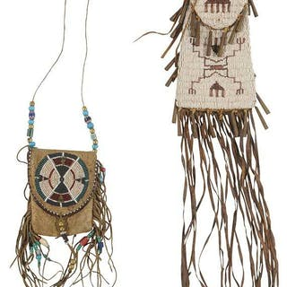 Two Beaded Flap Bags