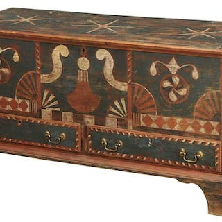 American Chippendale Pine Chest in Later Paint