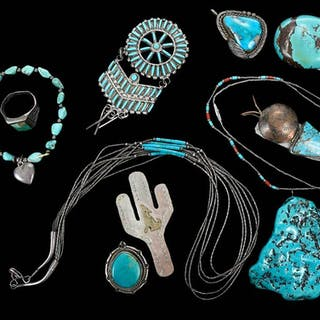 Boxed Set of 11 Southwest Jewelry Items