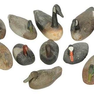 16 Cork Bodied Duck Decoys