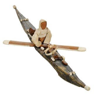 Inuit Model of Kayak and Hunter