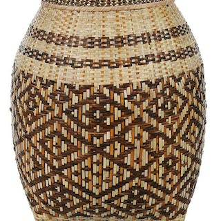 Monumental Cherokee River Cane Basket