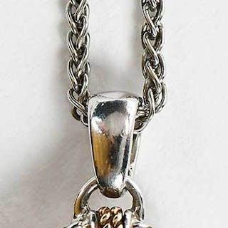 18kt. Gold, Sterling Silver, Gemstone Necklace