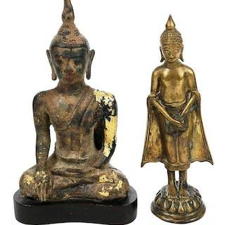 Two Gilt Bronze Buddhas