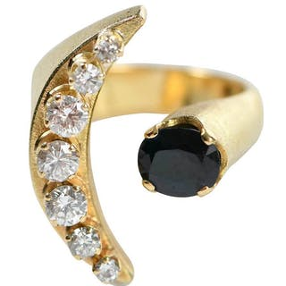 18kt. Diamond and Sapphire Ring