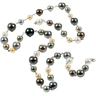 Platinum Pearl Necklace