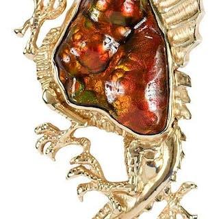 14kt. Dragon Pendant