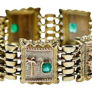14kt. Emerald Bracelet