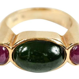 18kt. Gemstone Ring