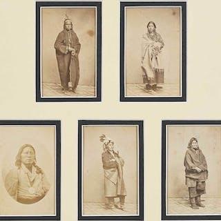 Five Native American Cartes de Visite