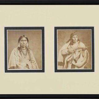 Two Native American Cartes de Visite