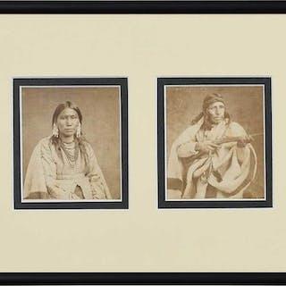 Two Native American Cartes de Visite