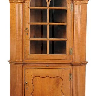 Southern Chippendale Style Architectural Cabinet