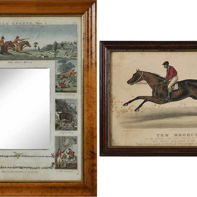 Two Horse Prints, One Mirrored