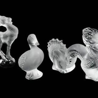Group of Six Lalique Animals
