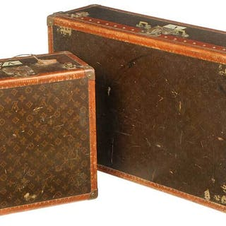Two Similar Louis Vuitton Motoring Trunks