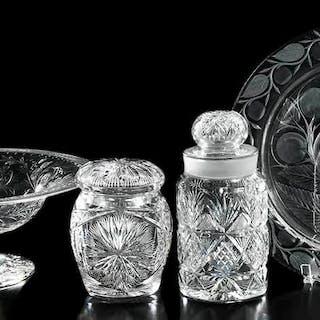 Four Brilliant Period Cut Glass Table Items