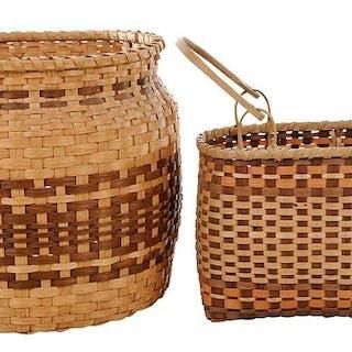 Two Cherokee Oak Split Baskets